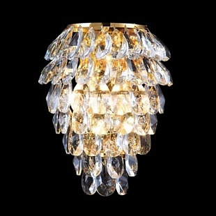 Бра CRYSTAL LUX CHARME CHARME AP2+2 LED GOLD/TRANSPARENT
